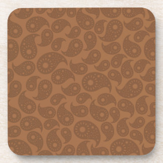 Brown Paisley. Drink Coaster