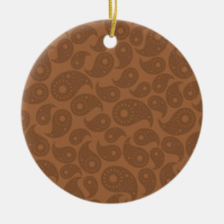 Brown Paisley. Ornament