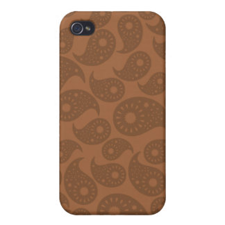 Brown Paisley iPhone 4/4S Covers