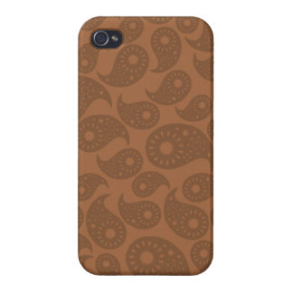 Brown Paisley Cover For iPhone 4