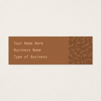 Brown Paisley. Mini Business Card
