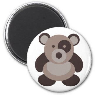 Brown Panda Bear 6 Cm Round Magnet