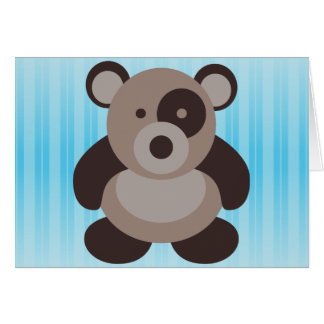 Brown Panda Bear Greeting Card