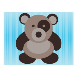Brown Panda Bear Postcard