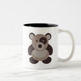 Brown Panda Bear Two-Tone Mug
