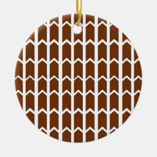 Brown Panel Fence Round Ceramic Decoration