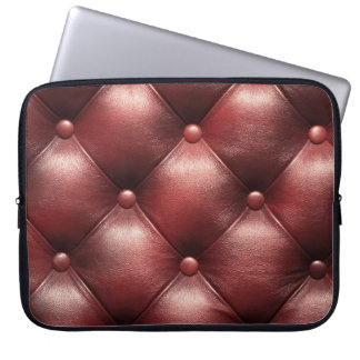 brown pattern leather skin computer sleeve