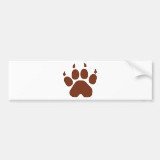 brown paw icon bumper sticker