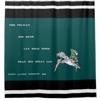 Brown Pelican Bird Wildlife Animals Humor Poem Shower Curtain