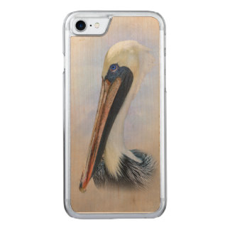 Brown Pelican Carved iPhone 8/7 Case