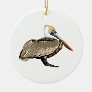 Brown Pelican Christmas Ornament