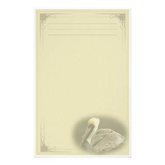 Brown Pelican Custom Stationery