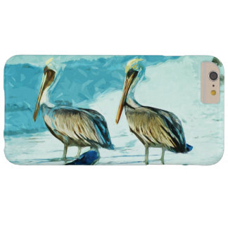 Brown Pelican in Winter Colors Abstract Impression Barely There iPhone 6 Plus Case