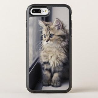 Brown Persian Kitten Looking Out Window OtterBox Symmetry iPhone 8 Plus/7 Plus Case