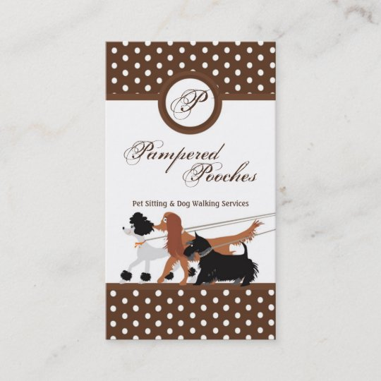 Your Photo Vertical Pet Sitting Dog Walker Business Card Zazzle