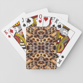 Brown pheasant feather kaleidoscope playing cards