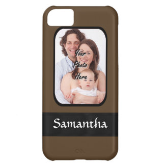 Brown photo template iPhone 5C case