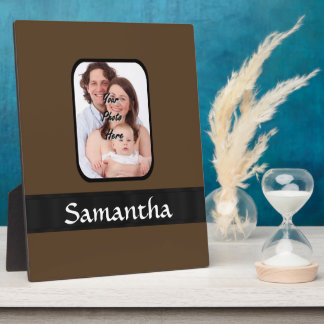 Brown photo template plaque