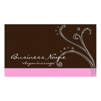 Brown & Pink Acrylic Design Business Card