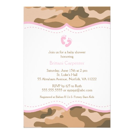 Pink Camo Baby Shower Invitations correctly perfect ideas for your invitation layout