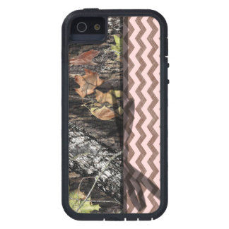 Brown/Pink Chevron and Camo iPhone 5/5S Case
