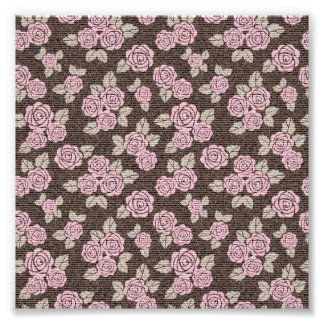 Brown,pink,floral,pattern,modern,cute,girly,trendy Art Photo