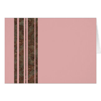 Brown & Pink Stripe Notecard Greeting Card