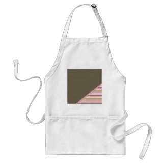 Brown & Pink Stripes Standard Apron