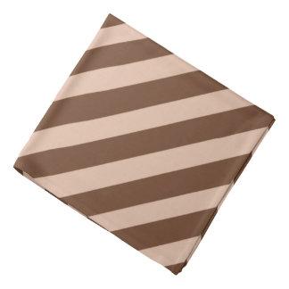 Brown Pirate Stripes Bandana