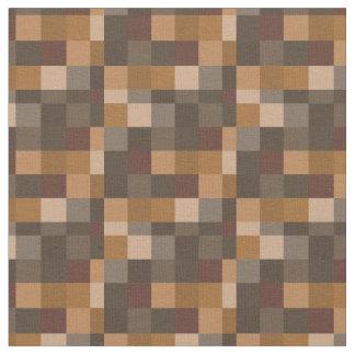 Brown Pixelated Pattern | Gamer Fabric