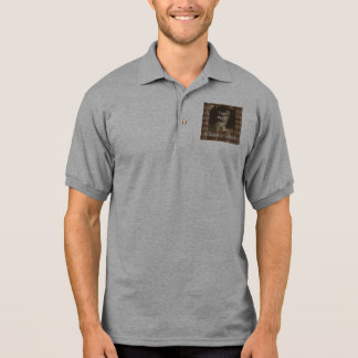 Brown Plaid Photo Customizable Fathers Day Polo