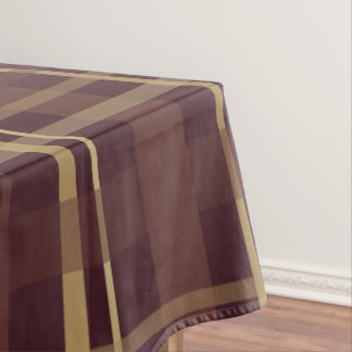 Brown Plaid Tablecloth