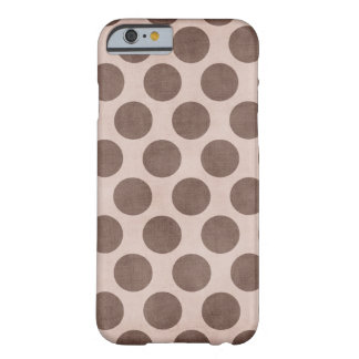 Brown Polka Dot Skin Barely There iPhone 6 Case
