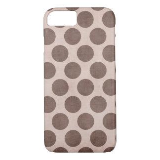 Brown Polka Dot Skin iPhone 7 Case