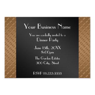 Brown polka dots Business invitation