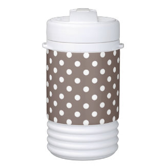 Brown Polka Dots Drinks Cooler