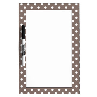 Brown Polka Dots Dry Erase Board