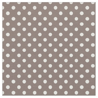 Brown Polka Dots Fabric