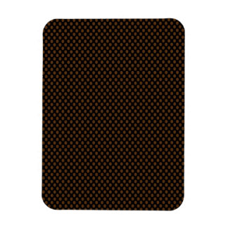 Brown Polka Dots on Black Rectangular Photo Magnet