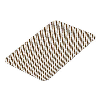 Brown Polka Dots on White Rectangular Photo Magnet
