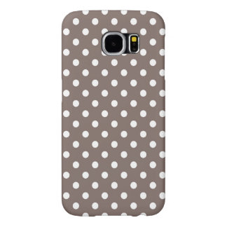 Brown Polka Dots Samsung Galaxy S6 Cases