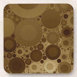 Brown Polkadot Beverage Coasters