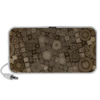 Brown Polkadot Pattern Notebook Speaker
