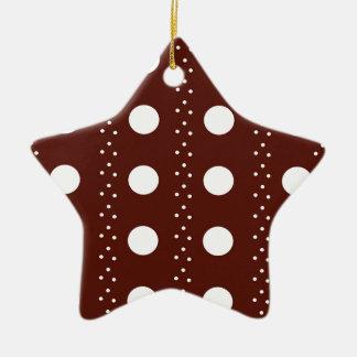 Brown Polkadot Stripes Christmas Ornament