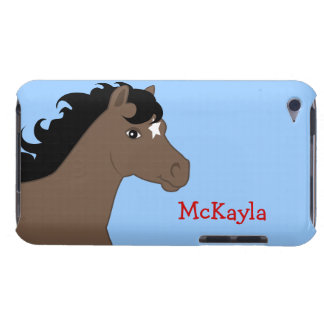 Brown Pony Personalized iPod Case Barely There iPod Cases