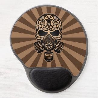 Brown Post Apocalyptic Sugar Skull Gel Mouse Pad