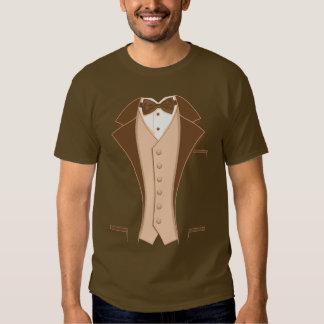 Brown Print Tuxedo T Shirt