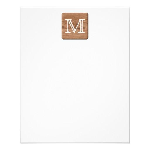 Brown Printed Pattern and Custom Letter. Custom Flyer