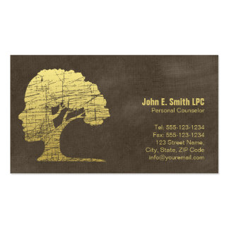 Brown Psychologist Personal Counselor Appointment Pack Of Standard Business Cards