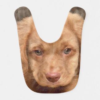 Brown Puppy Baby Ribs Bib